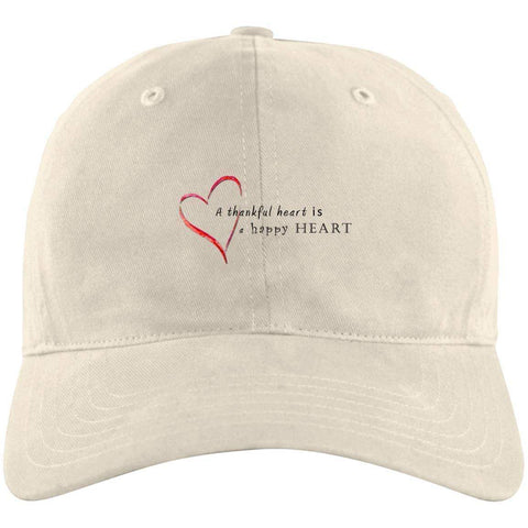 A Thankful Heart Unstructured Cresting Cap Hats CustomCat Stone One Size