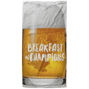 Breakfast of Champions Beach Towel - 37x74 Towels CustomCat White One Size