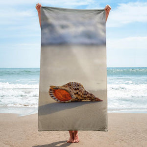 Conch Beach Towel - 37x74 Towels CustomCat White One Size