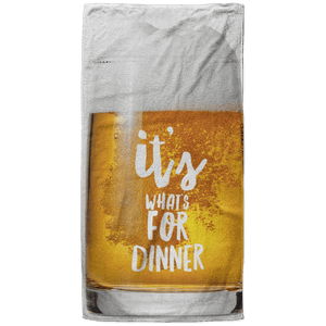 It's What's for Dinner Beach Towel - 37x74 Towels CustomCat White One Size