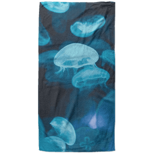 Jelly fish 3 Beach Towel - 37x74 Towels CustomCat White One Size