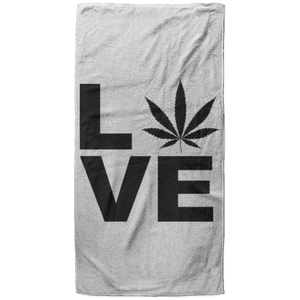 Love 2 Beach Towel - 37x74 Towels CustomCat White One Size