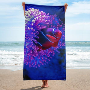 Nemo Beach Towel - 37x74 Towels CustomCat White One Size