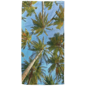Palms Beach Towel - 37x74 Towels CustomCat White One Size