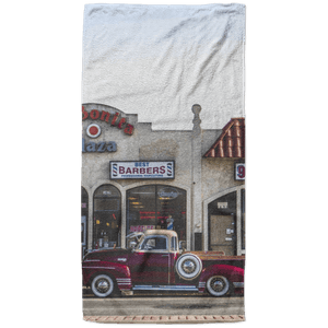 Red Vintage Truck Beach Towel - 37x74 Towels CustomCat White One Size