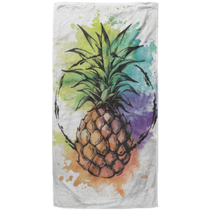 Water Color Beach Towel - 37x74 Towels CustomCat One Size