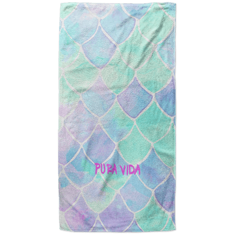 Pura Vida Scales Beach Towel - 37x74 Towels CustomCat One Size