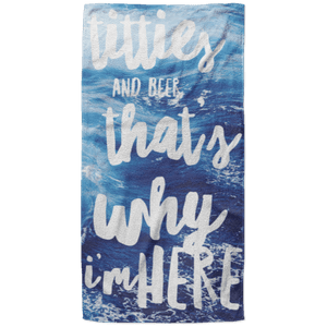 That's Why I'm Here Beach Towel - 37x74 Towels CustomCat One Size
