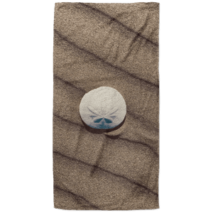Sand Dollar Beach Towel - 37x74 Towels CustomCat White One Size