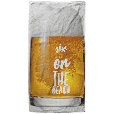 Six on the Beach Beach Towel - 37x74 Towels CustomCat White One Size