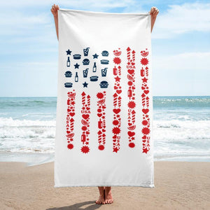 Summer Beach Towel - 37x74 Towels CustomCat White One Size