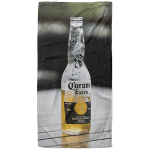 The Lonely Corona Beach Towel - 37x74 Towels CustomCat White One Size