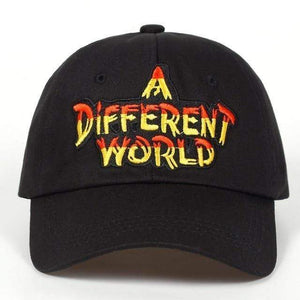 A DIFFERENT WORLD Embroidered Sports Cap