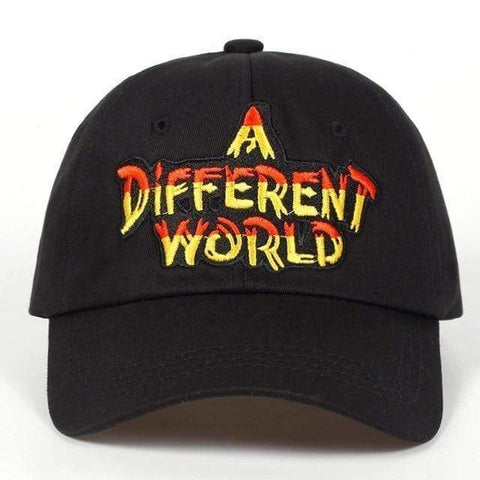 A DIFFERENT WORLD Embroidered Sports Cap Harner Isle Black