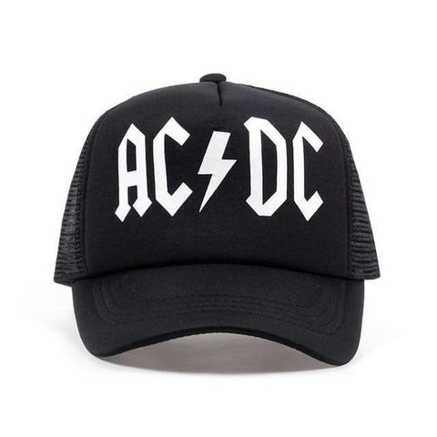 AC/DC Snap Back Mesh Sports Cap Harner Isle Black