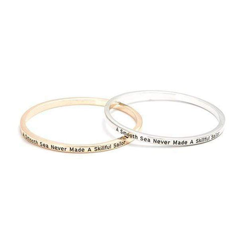 A Smooth Sea Never Made A Skilled Sailor Bangle Bracelet Harner Isle