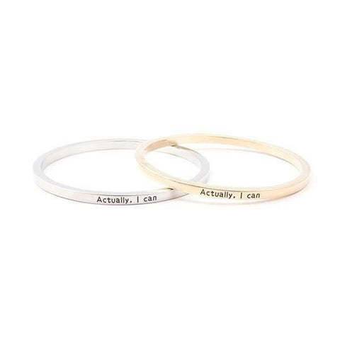 Actually I Can Bangle Bracelet Harner Isle
