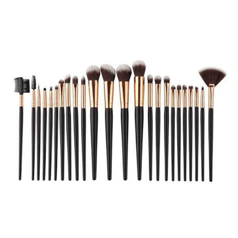 24 Piece Pro Black Brush Set Brushes Harner Isle Default Title