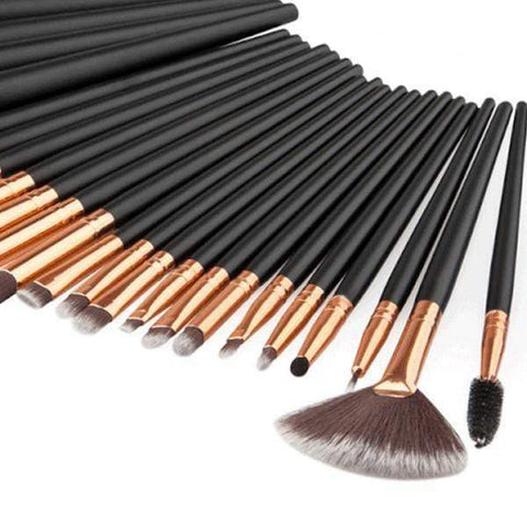 24 Piece Pro Black Brush Set Brushes Harner Isle