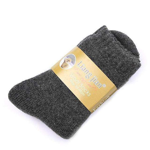 1 Pair Mens Thick Thermal Warm Socks Harner Isle Dark Grey One Size