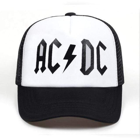 AC/DC Snap Back Mesh Sports Cap Harner Isle WHITE
