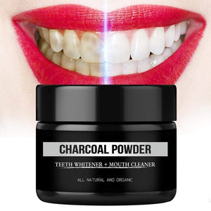 Activated Charcoal Teeth Whitening Organic Coconut Shell Powder with Bamboo Toothbrush