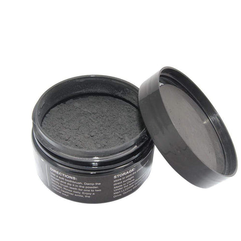 Activated Charcoal Teeth Whitening Organic Coconut Shell Powder with Bamboo Toothbrush whitening Harner Isle