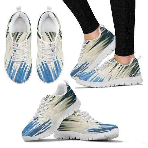 Stripes Harner Isle Women's Sneakers - White - Paint Splatters US5 (EU35)