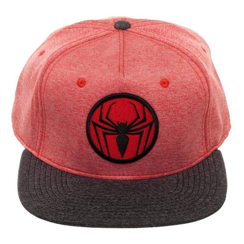 Spiderman Two Tone Cationic Red and Black Snapback Cap Marvel Comics