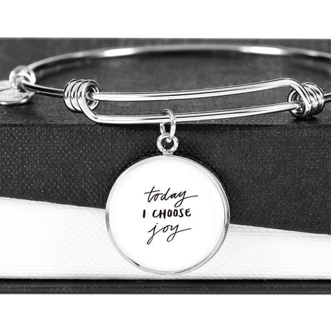 Image of Today I Choose Joy Jewelry ShineOn Fulfillment Luxury Bangle (Silver) No