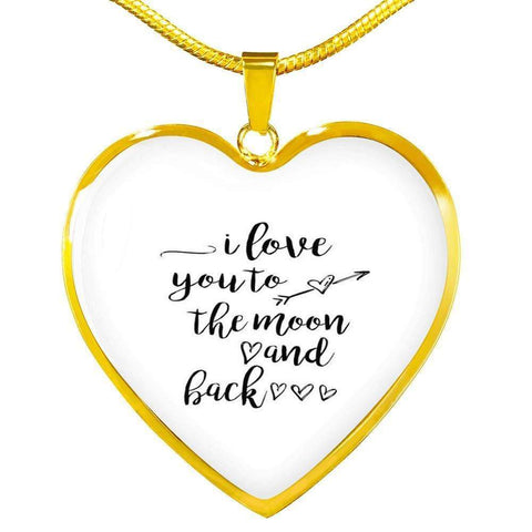 I love You to the Moon and Back Jewelry ShineOn Fulfillment Luxury Necklace (Gold) No