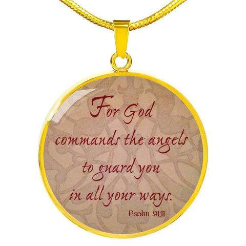 Psalm 9:11 Jewelry ShineOn Fulfillment Luxury Necklace (Gold) No