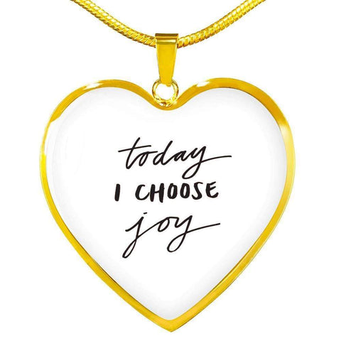 Today I Choose Joy Jewelry ShineOn Fulfillment Luxury Necklace (Gold) No