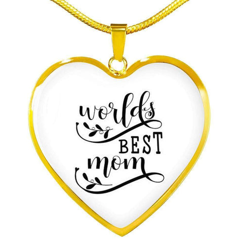 World's Best Mom Jewelry ShineOn Fulfillment Luxury Necklace (Gold) No