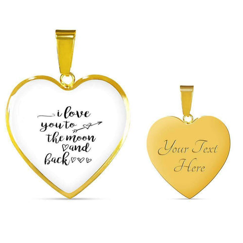 I love You to the Moon and Back Jewelry ShineOn Fulfillment Luxury Necklace (Gold) Yes