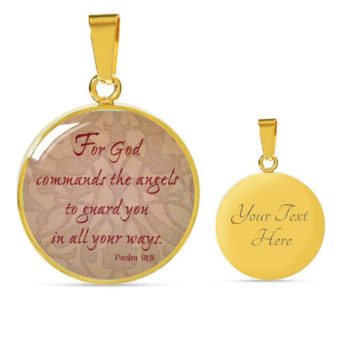 Psalm 9:11 Jewelry ShineOn Fulfillment Luxury Necklace (Gold) Yes