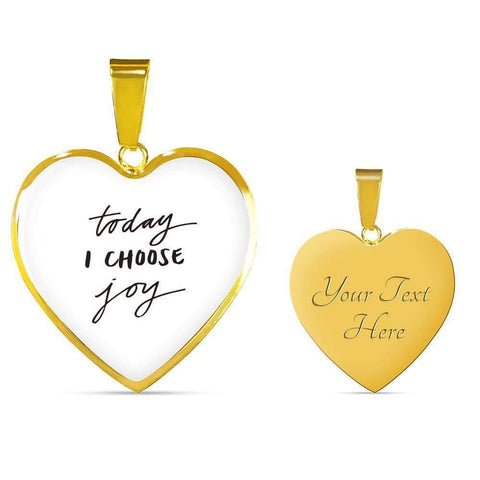 Today I Choose Joy Jewelry ShineOn Fulfillment Luxury Necklace (Gold) Yes