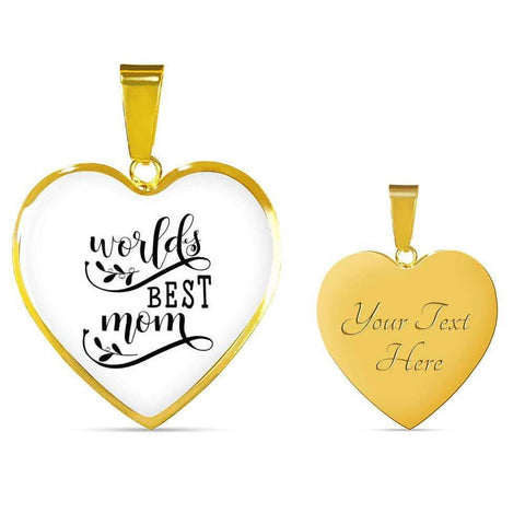 World's Best Mom Jewelry ShineOn Fulfillment Luxury Necklace (Gold) Yes