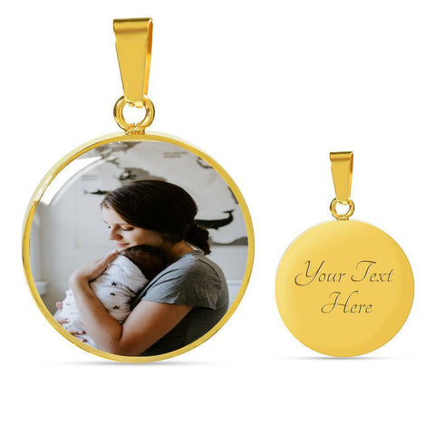 Circle Pendant Add your Own Photo Jewelry ShineOn Fulfillment
