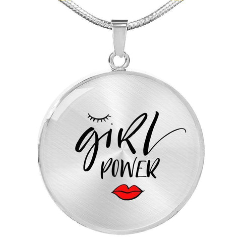 Image of Girl Power Circle Pendant Jewelry ShineOn Fulfillment