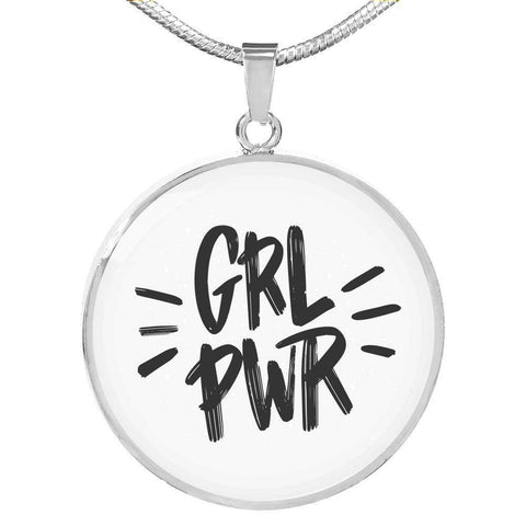 GRL PWR Circle Pendant Necklace Jewelry ShineOn Fulfillment