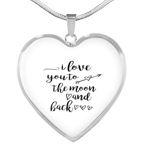 I love You to the Moon and Back Jewelry ShineOn Fulfillment Luxury Necklace (Silver) No