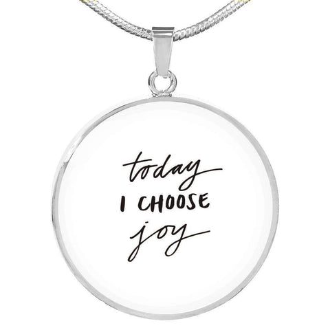 Today I Choose Joy Jewelry ShineOn Fulfillment Luxury Necklace (Silver) No
