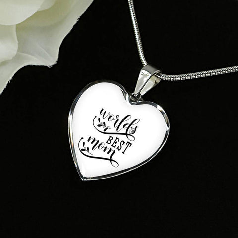World's Best Mom Jewelry ShineOn Fulfillment Luxury Necklace (Silver) No