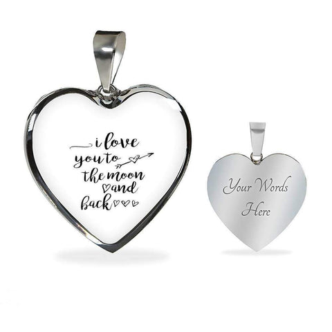 I love You to the Moon and Back Jewelry ShineOn Fulfillment Luxury Necklace (Silver) Yes