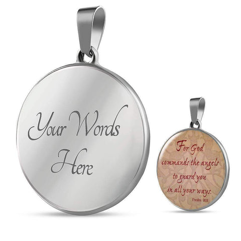 Psalm 9:11 Jewelry ShineOn Fulfillment Luxury Necklace (Silver) Yes