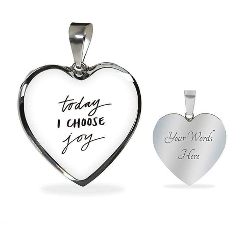 Today I Choose Joy Jewelry ShineOn Fulfillment Luxury Necklace (Silver) Yes