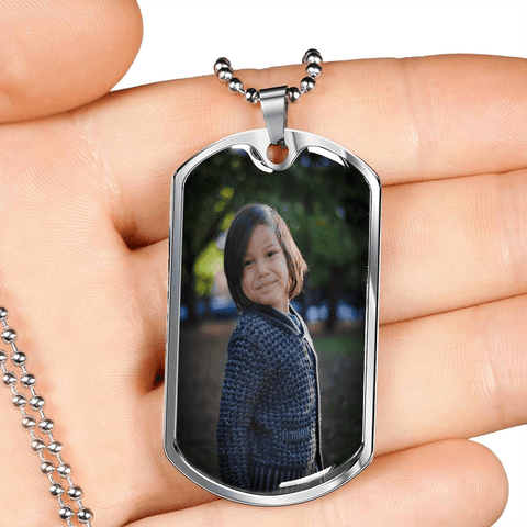 Dog Tag Necklace Add your own Photo Jewelry ShineOn Fulfillment