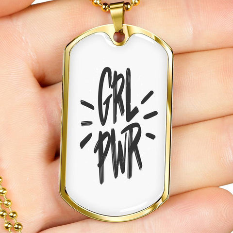 GRL PWR Dog Tags Jewelry ShineOn Fulfillment