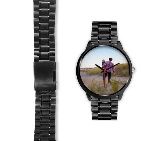 Add your own Photo Custom Watch (Email in your photo after ordering) Black Watch wc-fulfillment